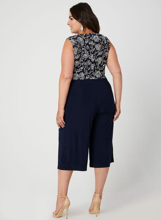 Floral Print Jersey Jumpsuit, Blue, hi-res