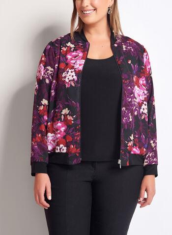 Floral Print Bomber Jacket, , hi-res