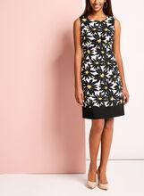 Daisy Print Sleeveless Shift Dress, , hi-res