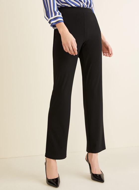 Pantalon pull-on coupe moderne, Noir