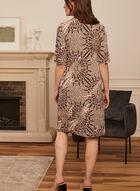 Robe motif médaillon à détail boucle, Brun