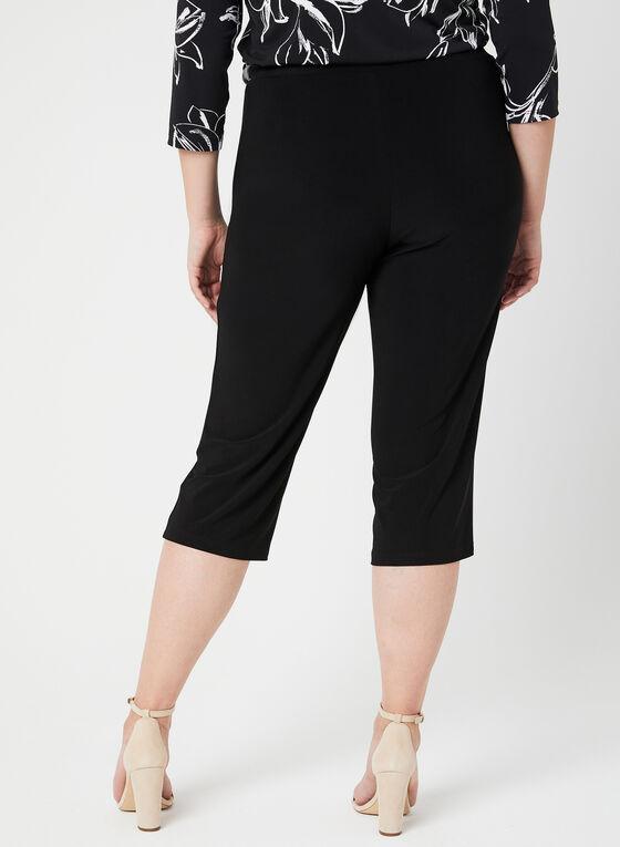 Pull-On Capri Pants, Black