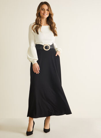 Pull-On Maxi Skirt, Black,  skirt, maxi, pull-on, pockets, fall winter 2020