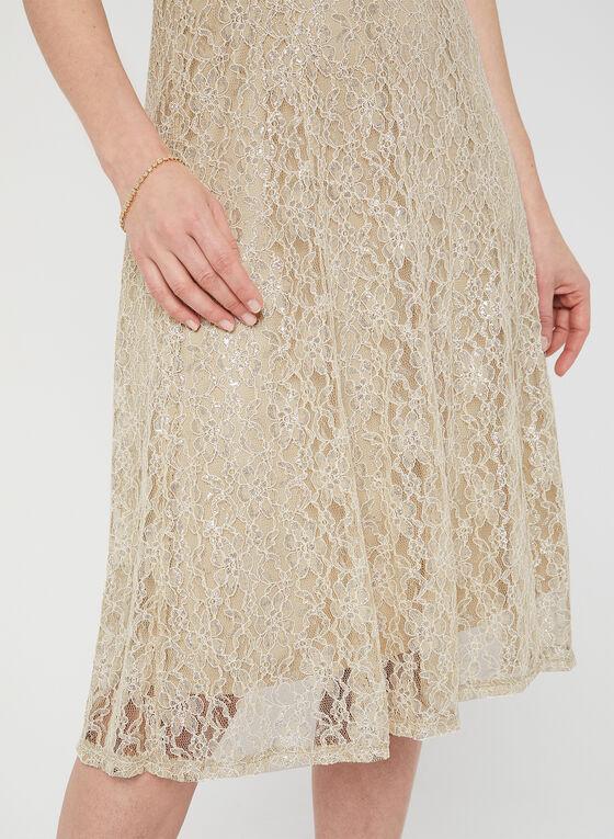 Midi Lace Dress, Off White