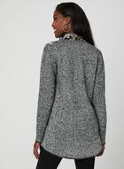 Ness - Embroidered Knit Cardigan, Black, hi-res