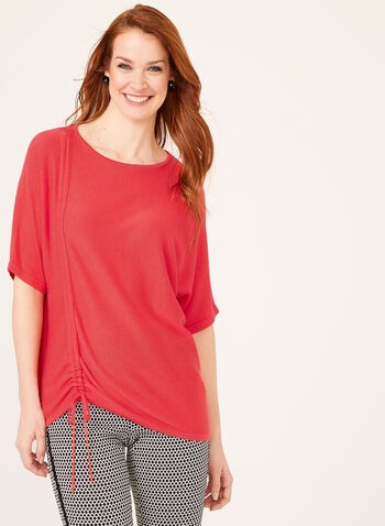 Dolman Sleeve Knit Top, Pink, hi-res