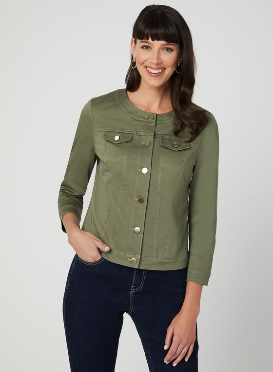 Cotton Blend Jacket, Green