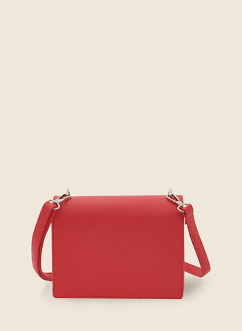 Rectangular Crossbody Bag, Orange,  handbag, rectangle, faux leather, shoulder strap, spring summer 2020