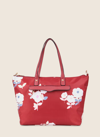 Floral Print Tote , Red,  handbags, purse, bag, tote, floral print, spring 2020, summer 2020
