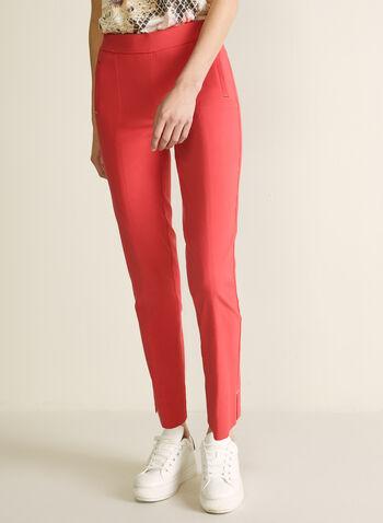 Pantalon coupe cité à jambe étroite, ,  pantalon, pull-on, cité, jambe étroite, détails métallisés, fente, printemps été 2020