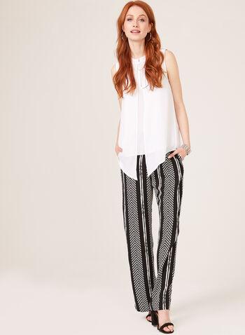 Linea Domani - Modern Fit Wide Leg Pants, Black, hi-res