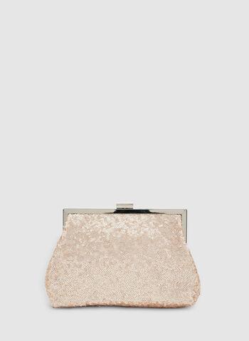 Sequin Clutch, Pink, hi-res