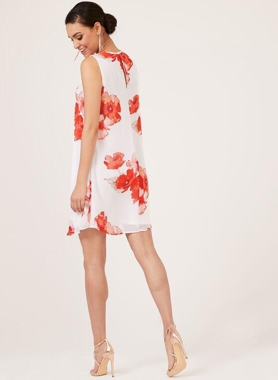 Jessica Howard - Robe sans manches en mousseline fleurie, Blanc, hi-res