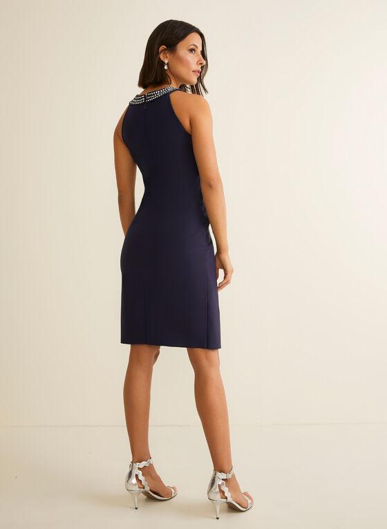 Cleo Neck Cocktail Dress, Blue