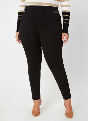 City Fit Pull-On Pants, Black,  fall winter 2019, ponte di roma, leggings, slim leg