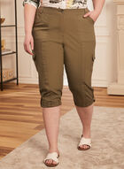 Cargo Capris With Pockets, Green