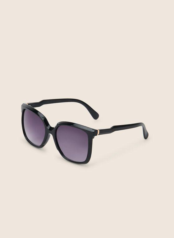 Plastic Frame Sunglasses , Black