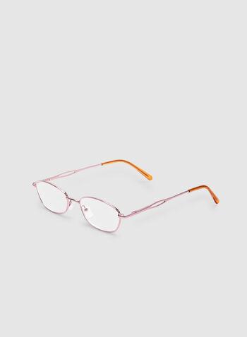 Lunettes de lecture ovales, Rose, hi-res,  lunettes de lecture, ovale, métallisé, automne hiver 2019