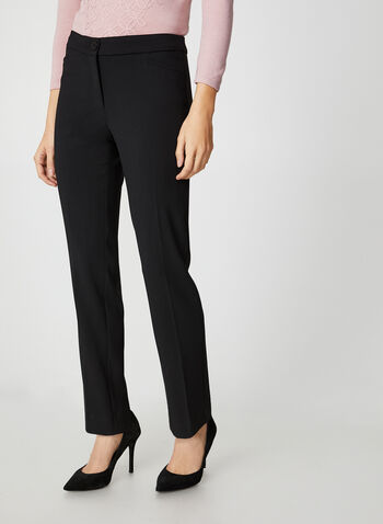 City Fit Slim Leg Pants, Black,  canada, slim leg pants, pants, city fit, pockets, fall 2019, winter 2019