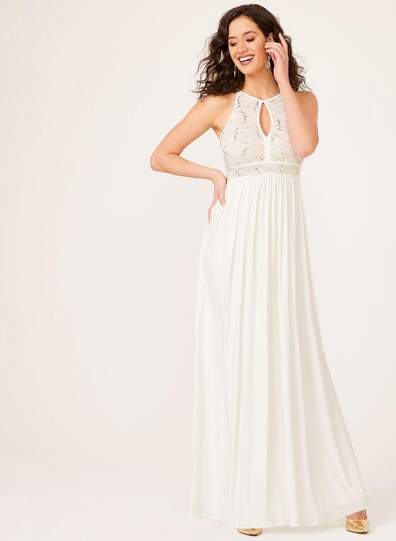 879f6dae059 ... Sequin Lace Keyhole Neckline Dress