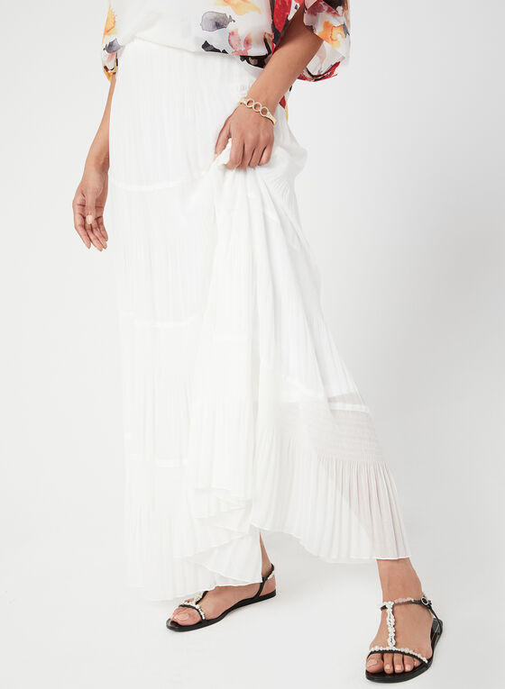 Alison Sheri - Jupe froncée étagée , Blanc