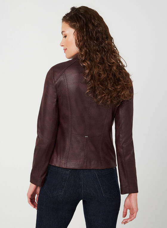 Vex - Faux Leather Jacket, Red