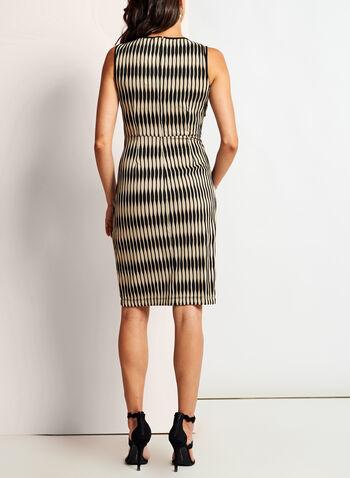 Wave Knit Jersey Keyhole Dress, Black, hi-res
