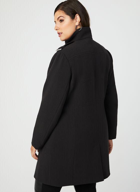 Manteau style redingote, Noir, hi-res