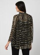 Leopard Print Blouse, Black, hi-res
