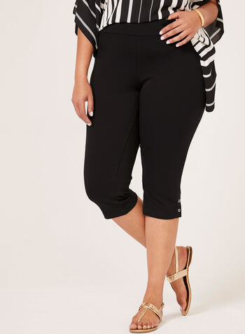 Picadilly – Pull-On Capri Pants, Black, hi-res