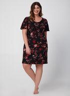 Hamilton – Floral Print Nightshirt, Red, hi-res