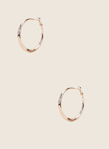 Golden Metallic Hoop Earrings, Gold,  earrings, jewellery, accessories, golden, metallic, hoop, spring summer 2020