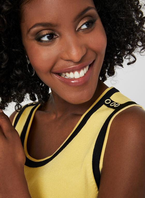 Sleeveless Knit Top, Yellow, hi-res
