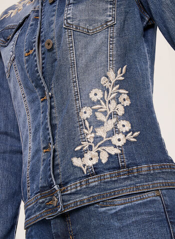 Frankie & Stella – Embroidered Jean Jacket, Blue, hi-res