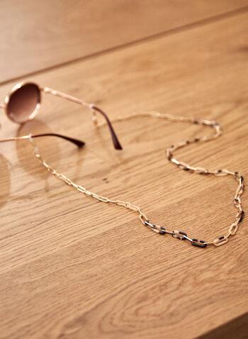 Chaîne amovible pour masque ou lunettes, Brun,  accessoire, chaîne, masque, lunettes, amovible, chaîne, métal, résine, printemps été 2021