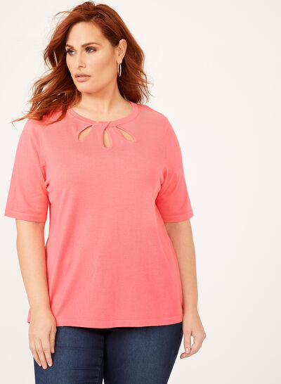 Elbow Sleeve Knit Top