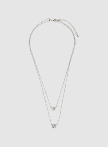 Double Chain Necklace, Silver, hi-res