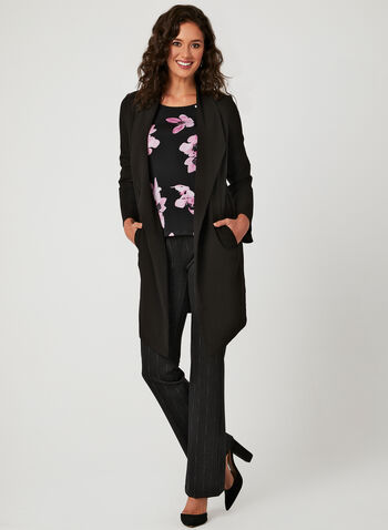 Haut en jersey à motif floral , Multi, hi-res