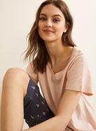 Claudel Lingerie - T-Shirt & Capri Pyjama Set, Pink