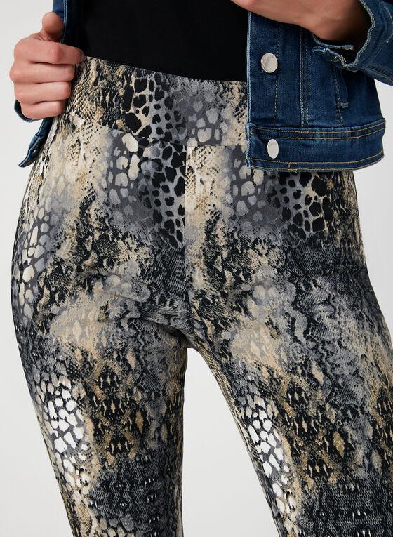 Snakeskin Print City Fit Pants, Brown, hi-res