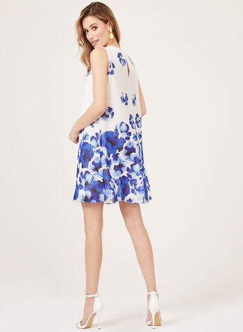 Jessica Howard - Floral Print Shift Dress, White, hi-res