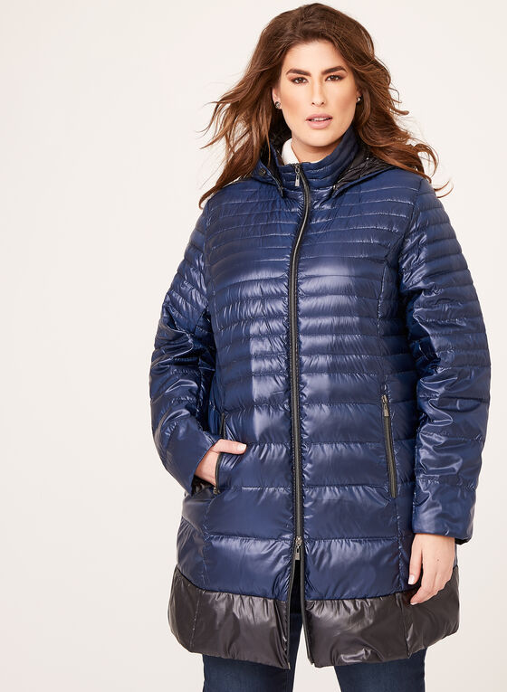 Nuage - Quilted Packable Down Coat, Blue, hi-res