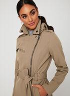 BCBGeneration - Lapel Collar Trench Coat, Brown, hi-res