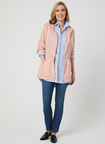 Imperméable long compressible , Rose, hi-res