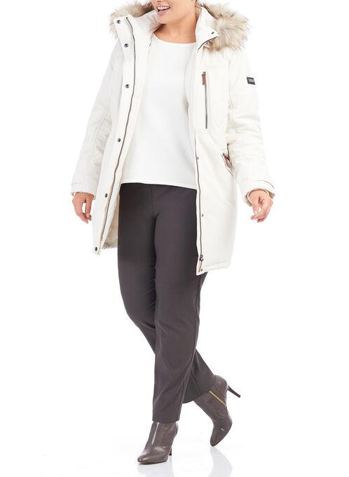 Novelti - Manteau en polyfill avec simili fourrure, Blanc cassé, hi-res