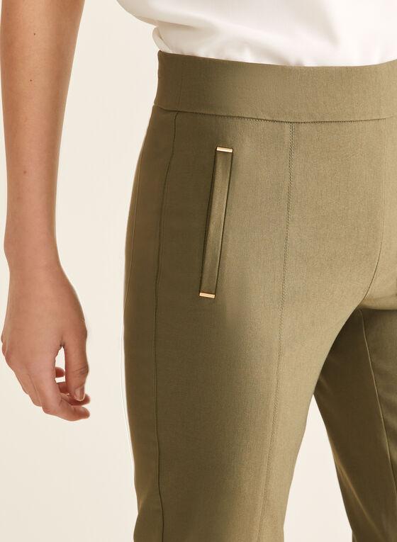 Pantalon coupe cité à jambe étroite, Vert