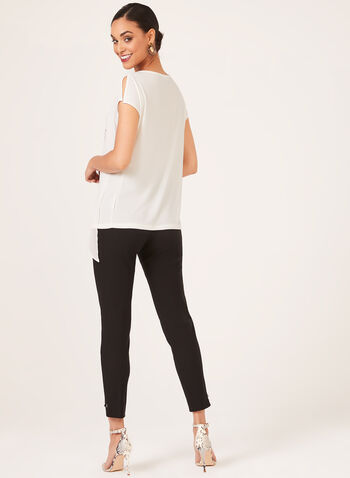 Asymmetric Chiffon Top, White, hi-res