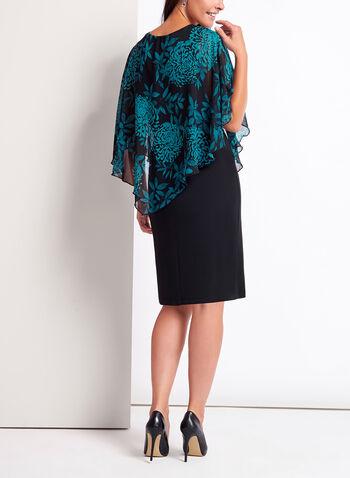 Peony Print Poncho Dress, , hi-res