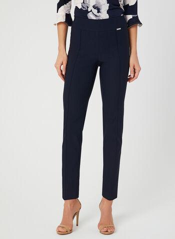 Modern Fit Slim Leg Pants, Blue,