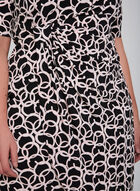 Ring Print Jersey Dress, Black, hi-res